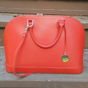 Red Authentic Pulicati Leather Bag